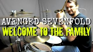 getlinkyoutube.com-AVENGED SEVENFOLD - Welcome to the Family - Drum Cover
