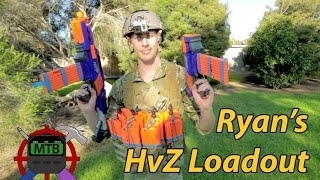 getlinkyoutube.com-Ryan's Nerf War/HvZ LOADOUT - Community Gear | Make Test Battle