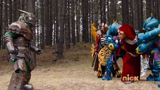 getlinkyoutube.com-Power Rangers Dino Charge - One More Energem - Sledge vs Keeper