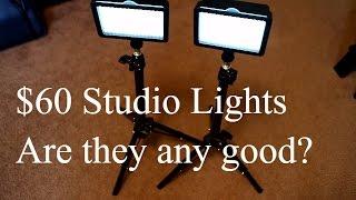 How far does $60 go for Studio Lighting? Julius Studio 160 Lighting Setup.