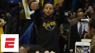 Stephen Curry hits tunnel shots before return to Warriors for Game 2 vs. Pelicans | ESPN