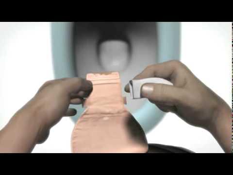 Coloplast - Limpeza de uma bolsa coletora de fezes ou urina.flv