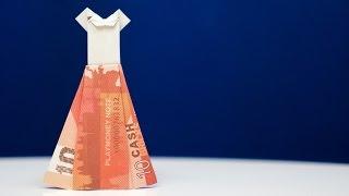 getlinkyoutube.com-Geldgeschenk IDEE für Hochzeiten: BRAUTKLEID ❤️