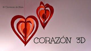 getlinkyoutube.com-Manualidades para San Valentín, Corazón 3D Kirigami, Día del amor y la Amistad