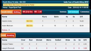 Live India vs South Africa cricket scorecard | 6th ODI | IndvsSA | NYOOOZ UP