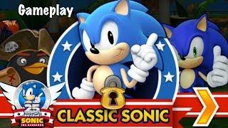 getlinkyoutube.com-Sonic Dash Classic Sonic Gameplay