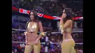 getlinkyoutube.com-ECW. 07/09/09. Nikki Bella Vs. Katie Lea