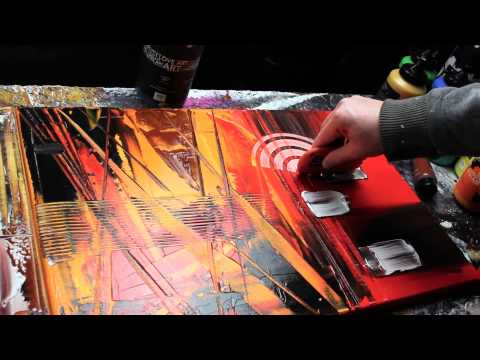 Abstract acrylic painting Demo HD Video - Carbon by John Beckley