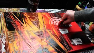 getlinkyoutube.com-Abstract acrylic painting Demo HD Video - Carbon by John Beckley