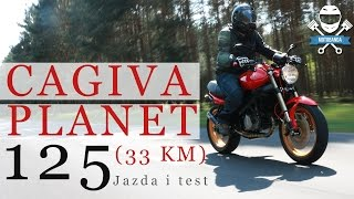getlinkyoutube.com-Włoska miniaturka Monstera? 33 KM i hamulce Brembo! Cagiva Planet 125 Test