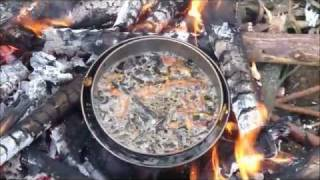 getlinkyoutube.com-how to cook over an open fire - without burning the food... and without stirring - my way!