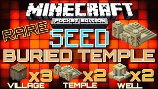 ✔️Minecraft PE - BURIED DESERT TEMPLE with 3 VILLAGES, 2 WELLS, AND 2 TEMPLES [MCPE]