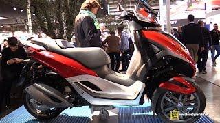 getlinkyoutube.com-2015 Piaggio MP3 Yourban 300 - Walkaround - 2014 EICMA Milan Motorcycle Exhibition