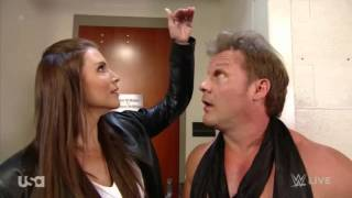 getlinkyoutube.com-Stephanie McMahon & Chris Jericho Backstage