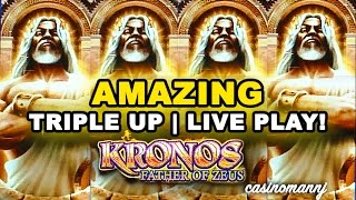getlinkyoutube.com-KRONOS FATHER OF ZEUS SLOT - AMAZING! - TRIPLE UP! - LIVE PLAY - Slot Machine Bonus