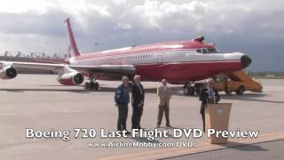 Boeing 720 C-FETB last ever flight MAY 9, 2012 flypast great sound!