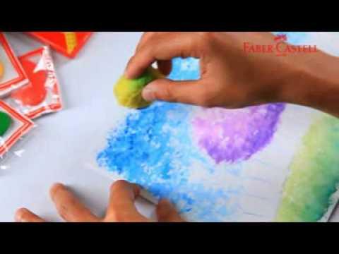 Faber-Castell Watercolour Pencil - Teknik Sponge