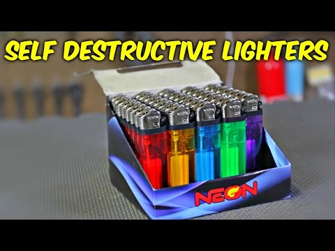 Self Destructive Lighters (DON'T TRY THIS)