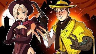 getlinkyoutube.com-Junkenstein's Revenge Halloween Edition!! - Overwatch Gameplay