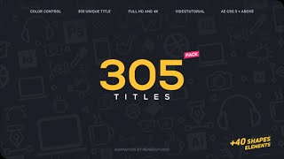 getlinkyoutube.com-After Effects Template : 305 Titles Ultimate Pack