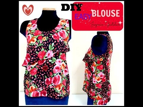 Como Hacer Una Blusa Sencilla DIY How To Make An Easy Blouse