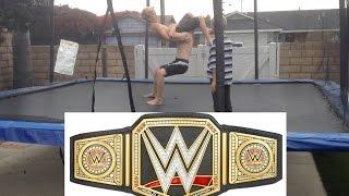 getlinkyoutube.com-WWE - Royal Rumble - World Heavyweight Championship - Brock Lesnar vs  Batista (Trampoline)