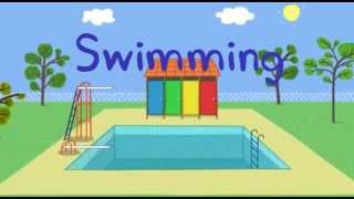 getlinkyoutube.com-Peppa Pig and george go Swimming dvd new episodes 2013
