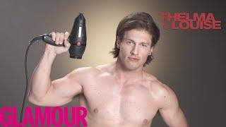 getlinkyoutube.com-This Guy Transforms Into 11 Brad Pitt Looks | Glamour