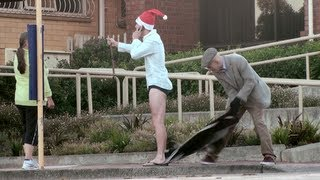 getlinkyoutube.com-RIPPING OFF CLOTHES Prank Christmas