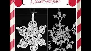 getlinkyoutube.com-Quilled Snowflake|Quilling Ornaments #7