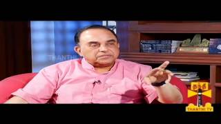 getlinkyoutube.com-KELVIKKENNA BATHIL - Subramanian Swamy 05.01.2014 THANTHI TV