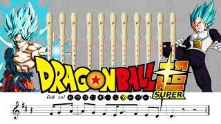 getlinkyoutube.com-Dragon Ball Super Opening - Flauta dulce - 2 colores