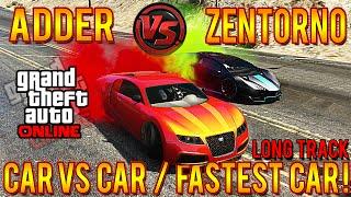 getlinkyoutube.com-GTA 5 Adder Vs Zentorno LONG TRACK! Fastest Car In GTA 5! PROOF Speed Test #CarVersusCar
