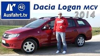 getlinkyoutube.com-2014 Dacia Logan MCV : Fahrbericht der Probefahrt / Test / Review