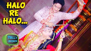 getlinkyoutube.com-Faisal Khan Roshni Walia Dandiya Celebration   Maharana Pratap   Sony Tv   Navratri Special