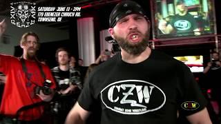 getlinkyoutube.com-CZW Tournament of Death 6: Zandig vs. Necro Butcher (CZWstudios.com) No Rope Barbed Wire Match