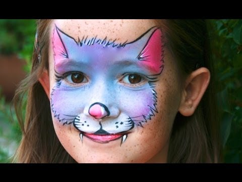 Süße Kitty Katze schminken / Kätzchen Kinderschminken Vorlage / Video Anleitung