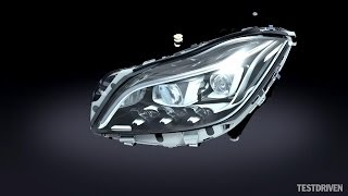getlinkyoutube.com-Mercedes-Benz Multibeam LED headlights