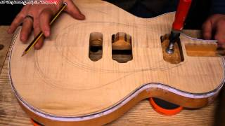How to carve a Les Paul style guitar top.. by hand! pt 1 tools & rough carving