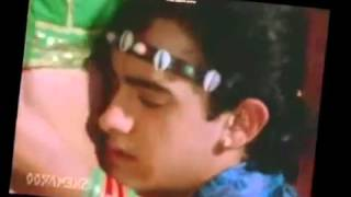getlinkyoutube.com-Sexy Bollywood Actress Juhi Chawla hot Navel Kiss and round ass grab in saree compilation