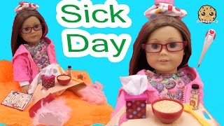 getlinkyoutube.com-Sick Day - Get Well American Girl Doll with Our Generation Under the Weather Care Set