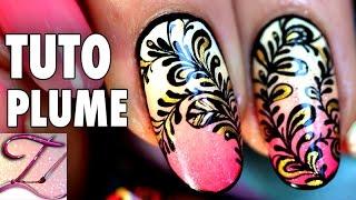 getlinkyoutube.com-Tuto nail art dégradé, gouttes et plumes, envie d'été !