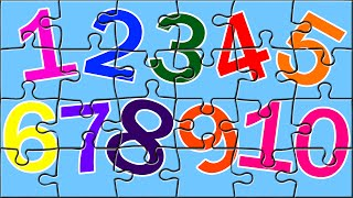 getlinkyoutube.com-Learn Numbers With Color Book Puzzles | Number Song | Color Song | Kids Puzzles
