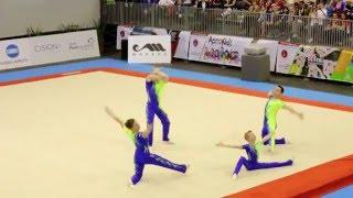 getlinkyoutube.com-Gymnastics FIG Acro World Cup Maia 2014 MG Dynamic GBR