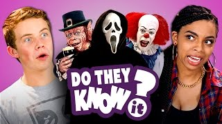 getlinkyoutube.com-DO TEENS KNOW 90's HORROR FILMS?  (REACT: Do They Know It?)