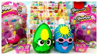 getlinkyoutube.com-Shopkins Surprise Egg Limited Edition Hunt Opening Over 30 Season 1 & 2 Shopkins!