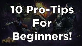 10 Pro-Tips For Beginners! - Marvel Contest of Champions
