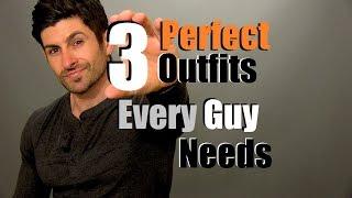 getlinkyoutube.com-3 Outfits Every Guy Needs | Men's Wardrobe Essentials