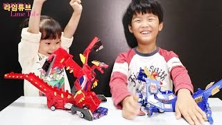 getlinkyoutube.com-신상 메가드래곤 터닝메카드 장난감 놀이 Turning MaCard Shooting Car Mega Dragon Toys Play Игрушки 라임튜브