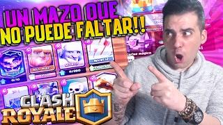 getlinkyoutube.com-UN MAZO QUE NO PUEDE FALTAR!! | Clash Royale | Rubinho vlc